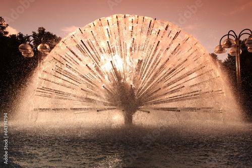 Photo  Decorative Fountain in Public Square Oslo Norway
