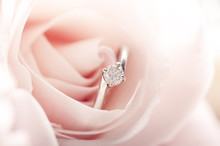 Engagement Ring In Pink Rose