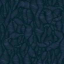 Navy Blue Worm. Vector Illustration.