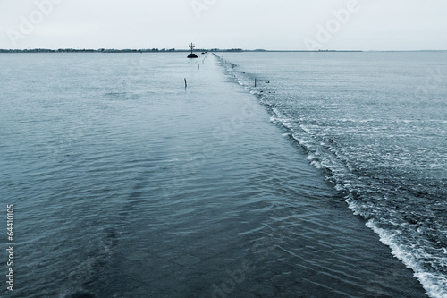 Fotografia  Passage du Gois en début de marée basse
