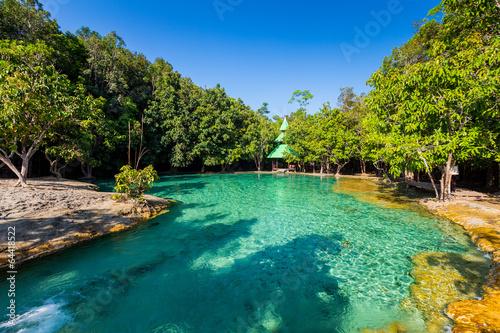 Aluminium Prints Bali Emerald Pool is unseen pool in mangrove forest