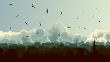 Horizontal Illustration Of Big...