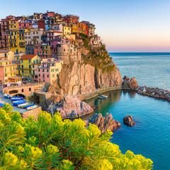 Fototapeta Morze Sunset in Manarola, Cinque Terre, Italy