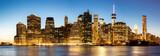 Fototapeta Nowy Jork - Panorama of New York City Manhattan skyline