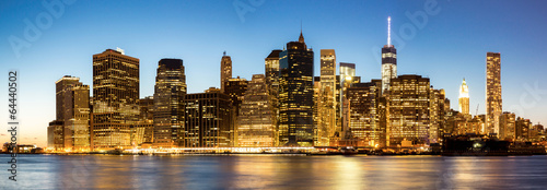 Poster New York Panorama of New York City Manhattan skyline