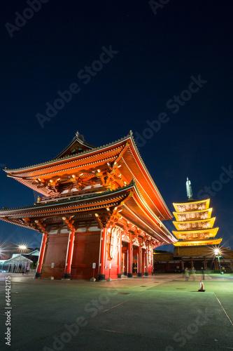 Poster Tokyo Sensoji temple Tokyo