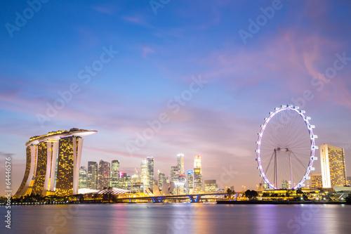 Montage in der Fensternische Singapur Singapore city downtown