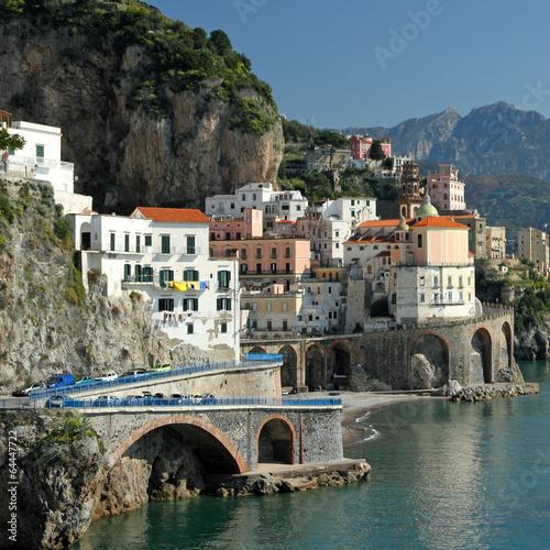 Poster de jardin Europe Méditérranéenne beautiful village Atrani on Amalfi Coast in south Italy