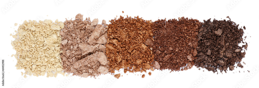 crushed eyeshadow isolated on white poster sold at europosters