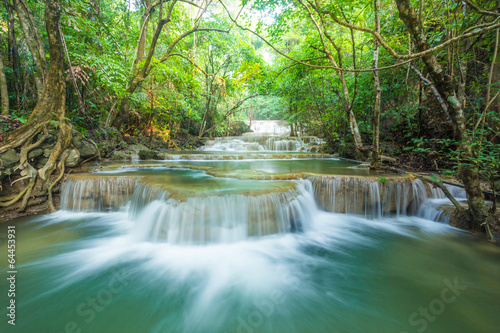 Fototapety, obrazy: Waterfall in deep forest of Thailand