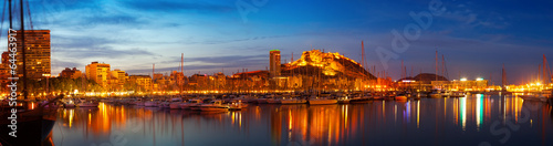 Photo Alicante in night, Spain