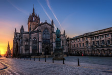 St Giles Cathedral At Sunrise,...