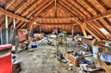 Messy Attic Roof Space At Aban...