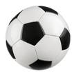 Leinwandbild Motiv Fußball auf reinem Weiß