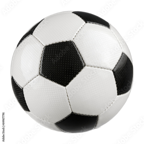 Staande foto Bol Fußball auf reinem Weiß