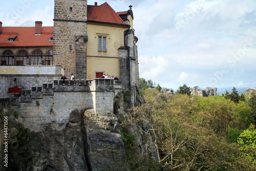 Castle Hruba Skala in Czech Republic. Poster