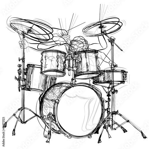 Fotomural drummer