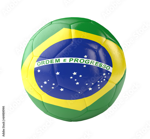 Poster  fußball brasilien football brazil 3d