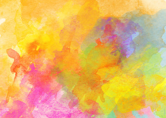Obraz na Szkle Do kawiarni Colorful Watercolor Background.