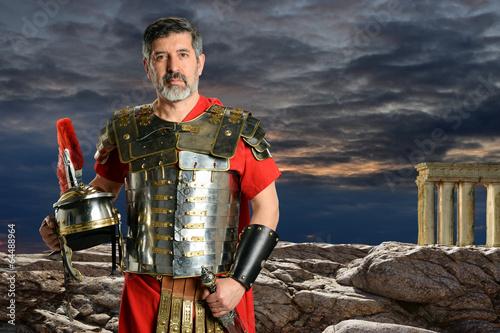 Fototapeta Roman Centurion with Metal Armor