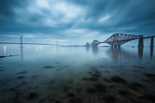 Forth Bridges In Edinburgh, Scotland