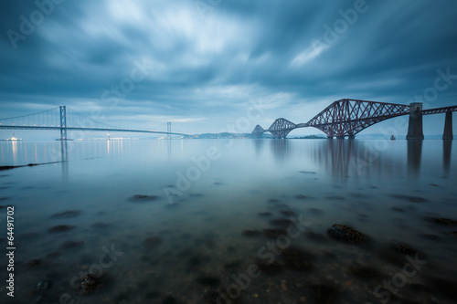 Staande foto Brug Forth bridges in Edinburgh, Scotland
