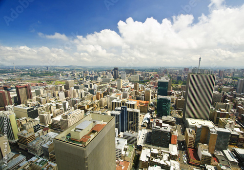 Foto op Aluminium Afrika Johannesburg Skyline from top of South Africa