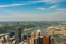 Pittsburgh, Pennsylvania - River View Skyline From The Tallest B
