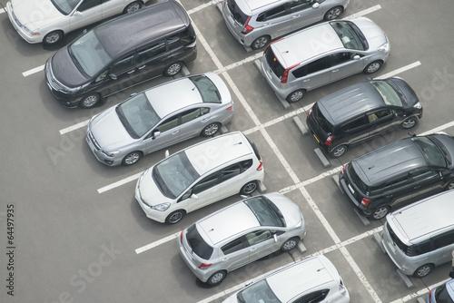 Fototapeta 上空から見た駐車場 obraz