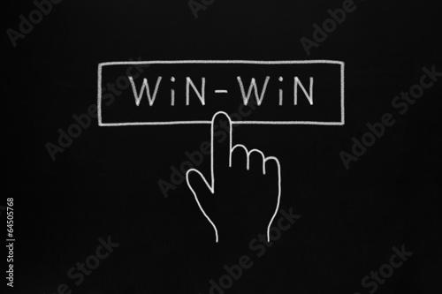 Hand Cursor Clicking Win-Win Button Canvas-taulu