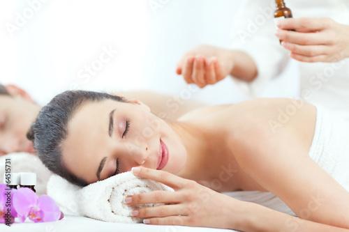 Fotografie, Obraz  Couple having a spa treatment