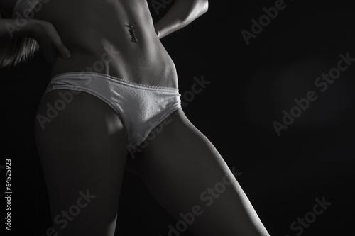 Fototapeta Silhouette of perfect sexy female body