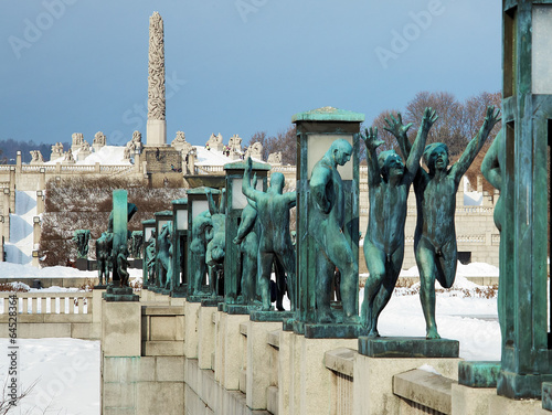 Photo  Sculpture at Vigeland Park in Oslo, Norway