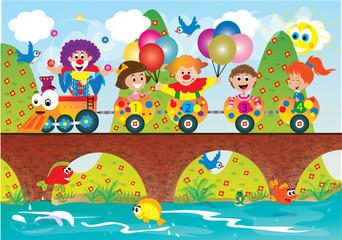 dzieci w pociągu