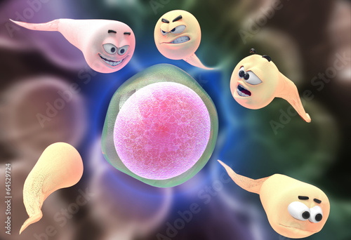 Photo Egg Fertilization and Expressive Sperm