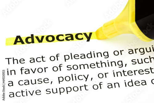 Advocacy highlighted in yellow Canvas Print
