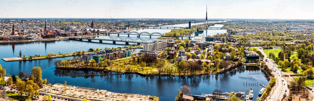 Fototapeta Panorama of Riga city. Latvia