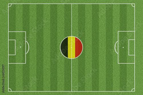 Poster  Fussballfeld Belgien