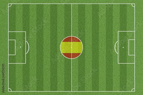 Poster  Fussballfeld Spanien