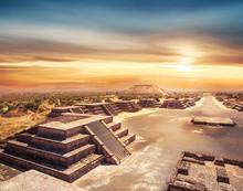 Teotihuacan, Mexico, Pyramid O...