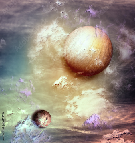 Garden Poster Imagination Sky with planets
