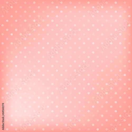 Wall mural - Polka dot pink background