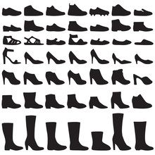 Vector Fashion Shoes Silhouett...