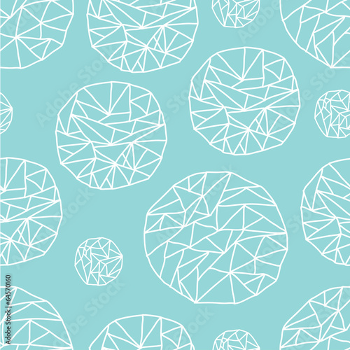 Mint geometric pattern.