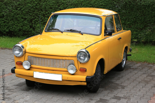 gelber Trabbi Canvas Print