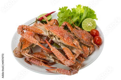 Fotobehang Schaaldieren Boiled blue crab