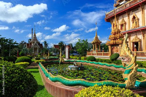 Fotografie, Obraz  Wat Chalong temple at sunny day Phuket Thailand