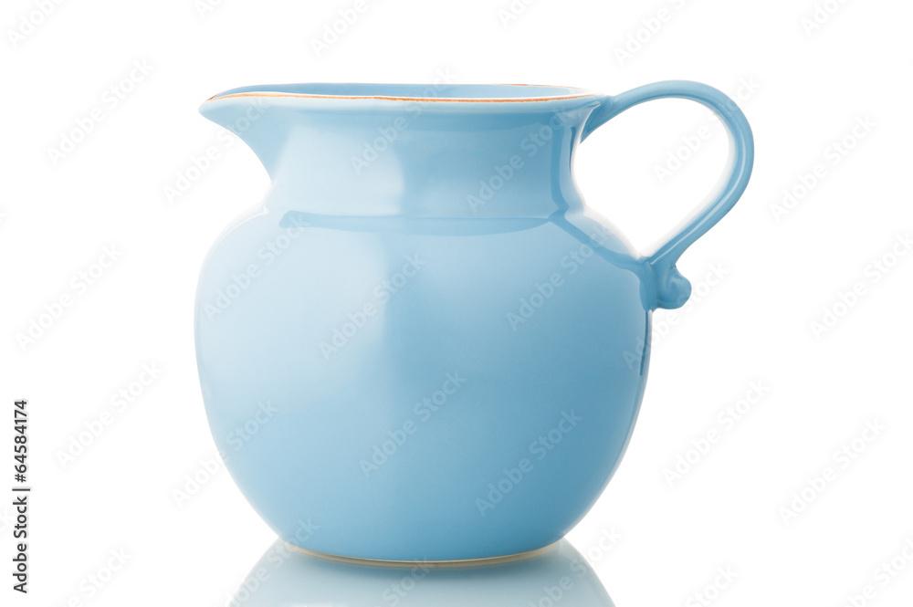 Fototapety, obrazy: Blue ceramic pitcher