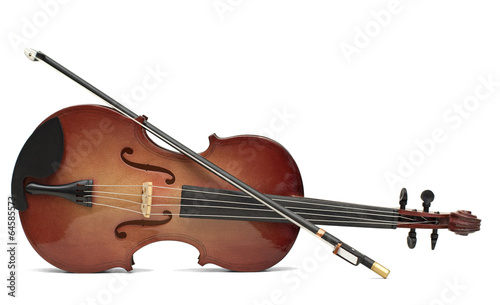 Fotografie, Obraz wood violin isolated over white