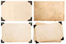 Old Cardboard With Corner, Postcard, Aged Paper
